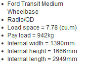 Cheap Van Hire Gloucester medium wheelbase van